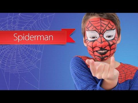 Spiderman schmink voor jongens