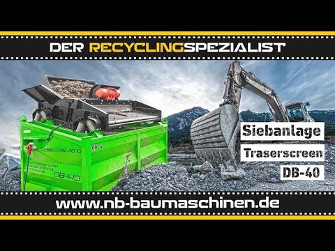 DB Engineering Traserscreen DB-40 Siebanlage | Flachdecksieb | Siebbox | Galabau | 950kg