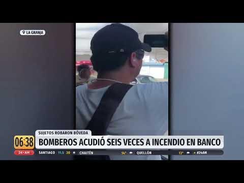 Bomberos acudió seis veces a apagar incendio en banco de La Granja