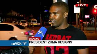 Excitement across the streets of PTA following Zuma