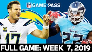 Chargers vs. Titans Week 7, 2019 FULL Game