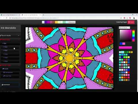 Awesome free mandala online coloring page