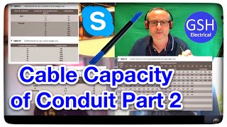 How to Workout the Cable Capacities of Conduit Appendix E On-Site Guide BS 7671 Calculations Part 2