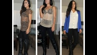 Fashion Diary: How To Wear Over-the-knee Boots With Leggings