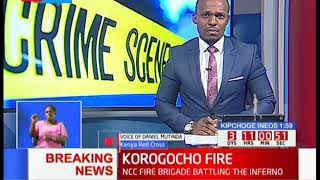 Kenya Red Cross has reported a fire outbreak in Korogocho Kwa Chief area