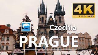 PRAGUE - Christmas markets, Czech Republic - 4K