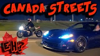CANADA Street Racing + Evading POLICE, 1100hp Corvette, RX7 & more!