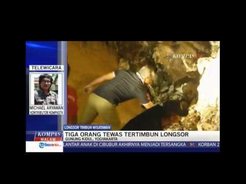 berita terkini runtuhnya tebing pantai Sadranan Gunungkidul Yogyakarta