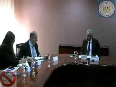 لقاء المهندس/ طارق قابيل وزير التجارة والصناعة بوفد من البنك الدولى