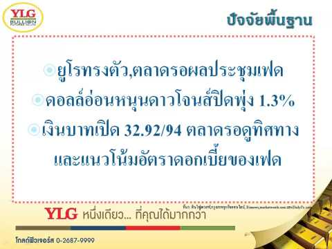 YLG บทวิเคราะห์ราคาทองคำประจำวัน 17-03-15