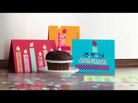 Geburtstags-  und Einladungskarten mit Deko Tape basteln