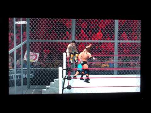WWE '12 John Cena (c) vs. CM Punk vs. Triple H (Hell in a Cell WWE Championship) (Hell in a Cell)