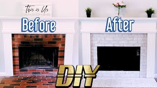 Fireplace Makeover | How To Paint A Brick Fireplace | DIY | Brick Anew | Part 2