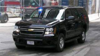 Secret Service Suburban in New York City for Obama Motorcade