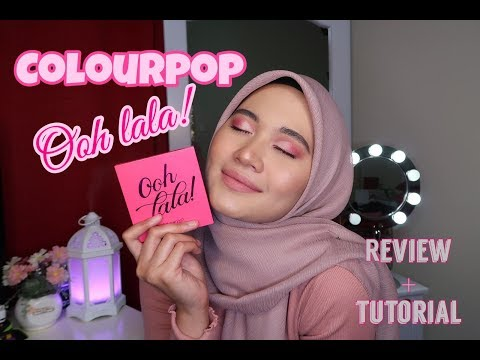 COLOURPOP OOH LALA PALETTE | SWATCHES & REVIEW & TUTORIAL