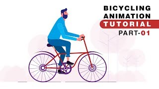 Character Cycling, Bicycle Animation - After Effects Tutorial | Part 01 of Part 02