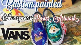 Disney DIY|  Vintage Disneyland Attraction Poster Custom Painted Shoes | The Dan-O Channel