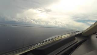 Landing a Private Jet at Destin, Florida Airport- with ATC and Multiple cameras