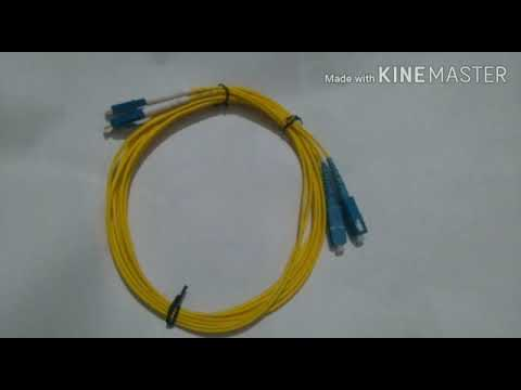 Fiber Patch Cord SC Duplex Single-Mode 3 Mtr