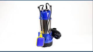 Submersible Electric Sump Pump - 170 FT (52 M) @ 65 GPM (15 m3/H) - Single Phase - 2.5 HP