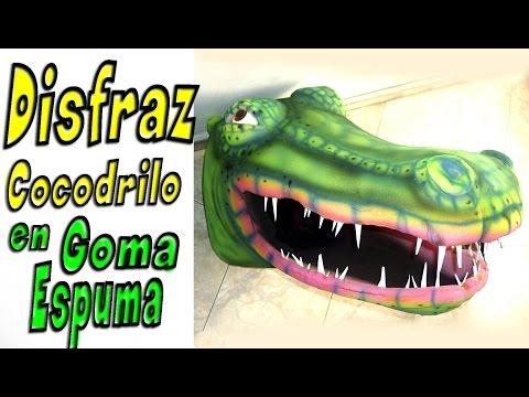 disfraz cocodrilo - cocodrilo en goma espuma