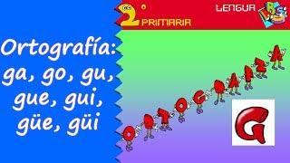 Lengua, 2º Primaria. Tema 5. Ortografía: Ga, Gue, Gui, Go, Gu Güe, Güi