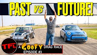 Classic vs Electric vs JCW vs Race Car Mini Drag Race - Which One Is The Quickest?