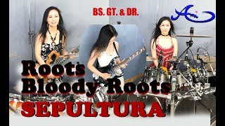 Sepultura - Roots bloody roots Drum, Bass & Guitar cover by Ami Kim (#48-4)