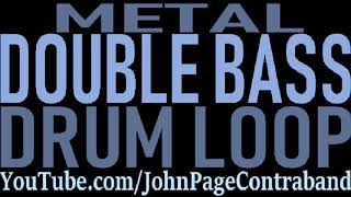 Fast Metal Double Bass Drum Beat Loop Kick Drums Only
