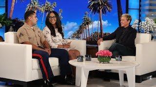 Ellen Meets New Parents Francis and Marine Corporal Brandon Crespo