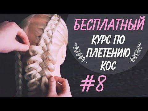 """🌿 🌸  КУРС """"КОСЫ С НУЛЯ"""" !!! 🌸 🌿  УРОК 8 🌸 🌿  Коса из 5 прядей, как начать?  🌸 🌿  LOZNITSA"""