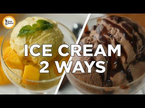 Video Mango Ice cream & Chocolate Ice cream recipe by Food Fusion