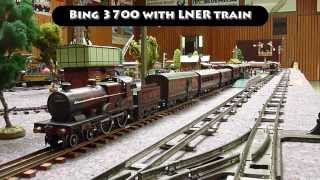 preview picture of video 'Vintage tinplate 0 gauge toytrains: Clockwork and live steam in Schriesheim'