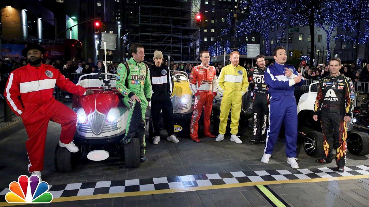 The Tonight Show NASCAR 500 Race in Rockefeller Plaza thumbnail