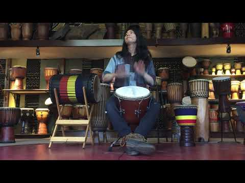 djembe 13 inch from Guinea with metal tuning