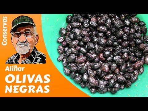 Cómo aliñar olivas negras