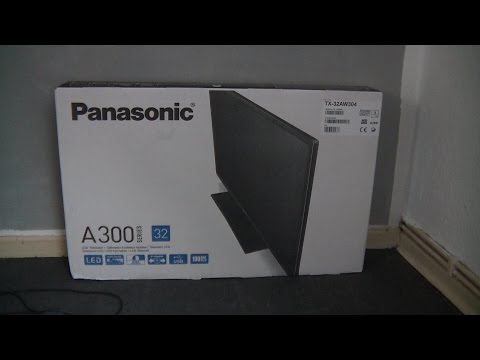 Panasonic TX 32AW304 - unboxing LED TV