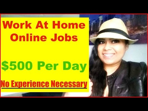 Work at Home Jobs [Work at Home Make Money Online Jobs] Make Money Online $500 per DAY