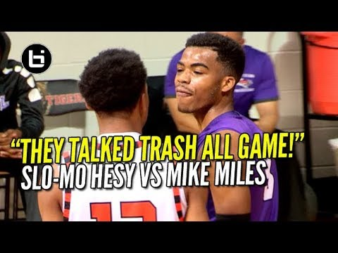 THEY TALKED TRASH ALL GAME! SLO-MO HESY KEN MILTON VS MIKE MILES