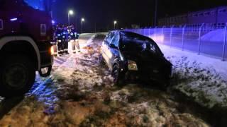 Wypadek w Szczepańcowej, dachowanie samochodu