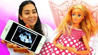 Puppen Video auf Deutsch. Barbie und Ken erwarten ein Baby. Spielspaß mit Valeria