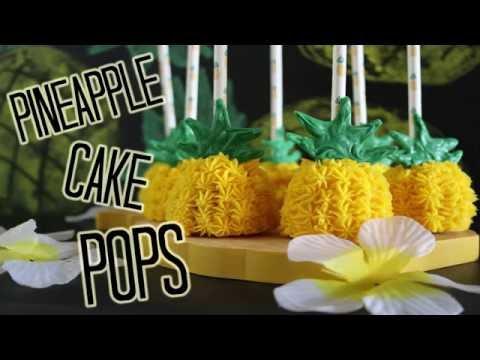 Pineapple Cake Pops! - TEST VIDEO