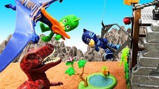 Видео игры для мальчиков - Герои в Масках на острове Динозавров!
