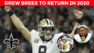 Drew Brees announces he's returning to Saints for 2020   CBS Sports HQ