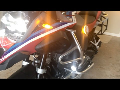 2016 BMW R1200 GSA LED install