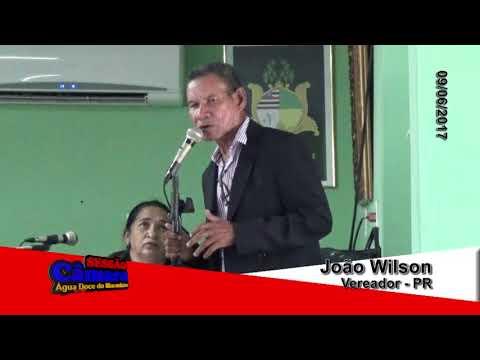 Vereador João Wilson de Água Doce do Maranhão em discurso no dia 09 06 2017