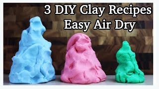 DIY Air Dry Clay Recipes (FAST And EASY)