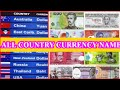 Currency Names of All Countries in the world