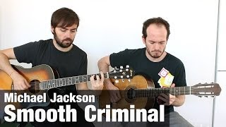 Michael Jackson - Smooth Criminal - Cómo Tocar Guitarra Púa