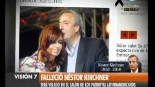 Visión Siete Falleció Néstor Kirchner 52